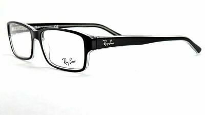 9a7660106b142 RAY BAN 5169 2034 Black Transparent 54 New Eyeglass Frame Authentic ...