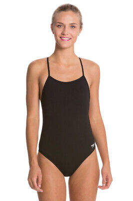 82cd69ce7c NWT Speedo Women's The One Back Solid Black #8191530 One-Piece Swimsuit SZ: