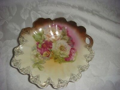Antique Dish Royal Vienna China Austria Hand Painted & Signed Black Crown