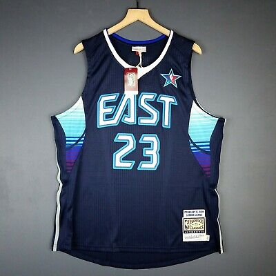 4c3c2d843229 100% Authentic Lebron James Mitchell   Ness 2009 All Game Jersey Size 48 XL  Mens