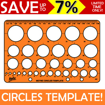Helix Circle Circles Shape Sizes Template Stencil Sheet Guide H6701 - 0352600