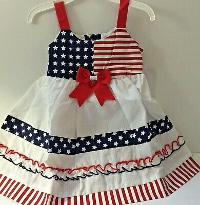 bdb1fc6a76d Bonnie Jean Baby Girl 18M Dress Patriotic Red White   Blue 4th of July New