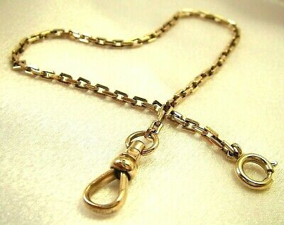 WOW! GORGEOUS ANTIQUE Pocket Watch Chain Dual Clasps Box Link 10