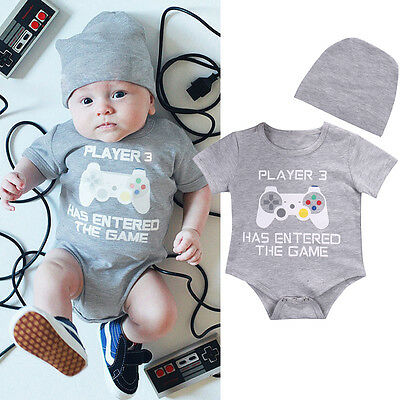 Infant Baby Boy Romper Bodysuit Jumpsuit Summer Funny Clothes Outfits Sunsuit