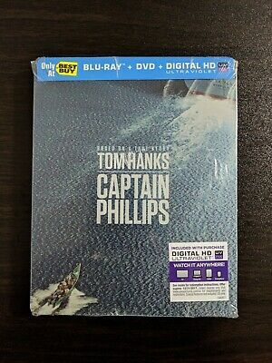 Captain Phillips Blu-ray + DVD Steelbook Best Buy Exclusive BRAND NEW SEALED