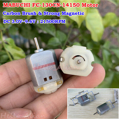 DC 3V 5V 6V 17000RPM High Speed Carbon Brush Mabuchi 130 Motor DIY Toy Car Boat