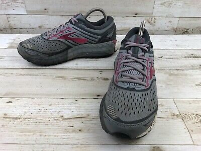1ff54b6484b Brooks Ariel 18 Pink Trail Running Shoes Women Size 10.5B Gray Athletic  Sneakers