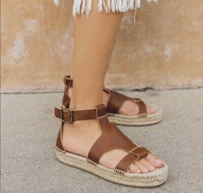 6aad05726e6   Soludos Espadrilles Banded Shield Sandals - Size 8 - Walnut - Great  Condition