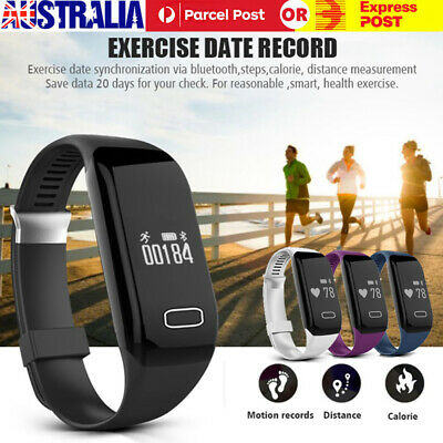 Women Men Bluetooth Smart Watch Bracelet Fitness Tracker for IOS Android IP68