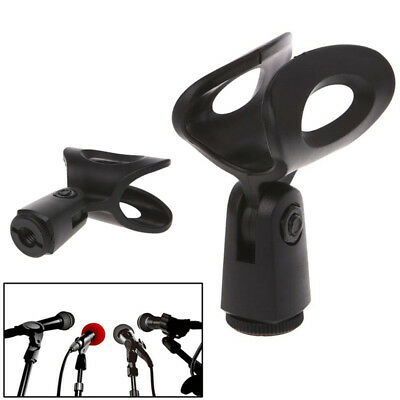 Mic Microphone Stand Accessory Flexible Plastic Clamp Clip Holder Mount OJ