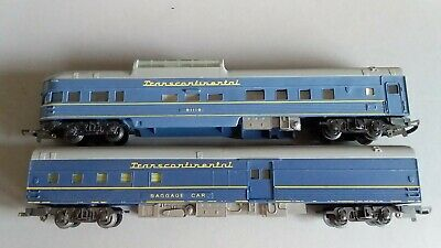 Triang Transcontinental Dome + Baggage Car Good Condition Unboxed Oo Scale(Mb3)