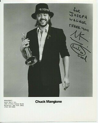 Autographed 8 x 10 Photo Chuck Mangione Musician trumpeter and composer.