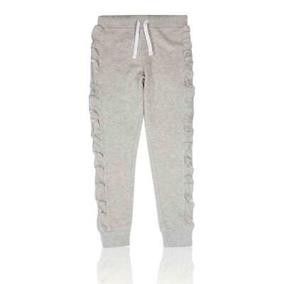 Marks & Spencer T743110S M&S Grey Cotton Frill Girls Jogger (3-16 Years) RRP £12