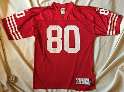 d0e8a284 Vintage Mens San Francisco 49ers Jerry Rice #80 Reebok NFL Football Jersey  Large