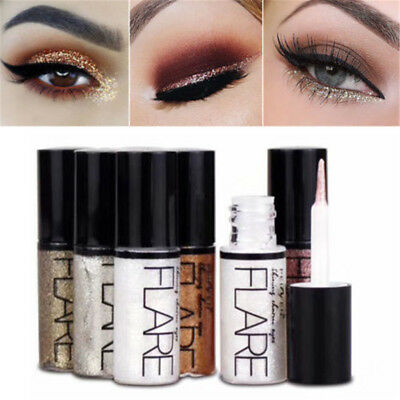 Beauty Metallic Shiny Eyeshadow Waterproof Liquid Eyeliner Makeup Eye Liner Pen~