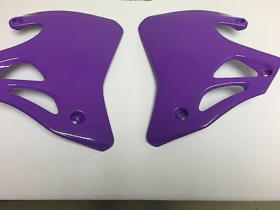 Honda CR 125 250 1995 1996 1997 Purple Radiator shrouds Covers Left Right UFO
