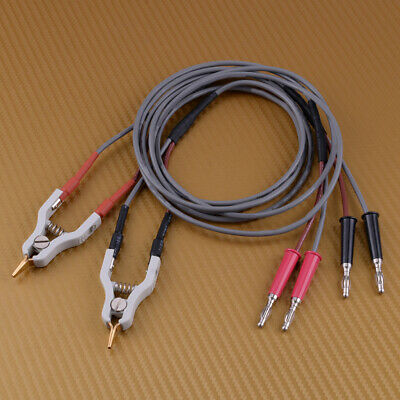 For GDM-8034 4Wires Type Microresistivity Test Lead Cable Kelvin Clip LCR clamp