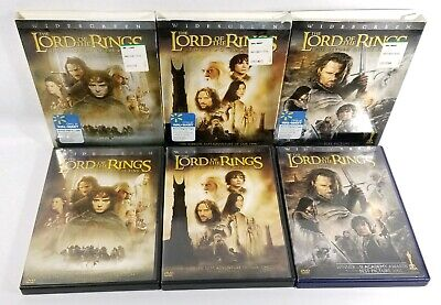 Lord of the Rings Trilogy LOT (6 DISC Limited Edition) LNC to VGC w Slipcover