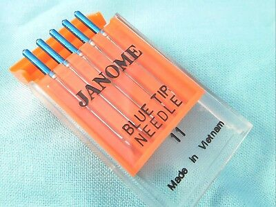 Janome Needles Size 11 (75) Blue Tip 5 Needles Per Pack Sewing Machines