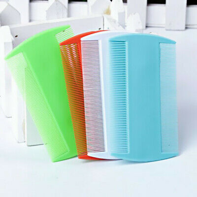 2pcs Double Sided Nit Hair Combs Fine Tooth Hot Kids Pet Head Lice Plastic Flea