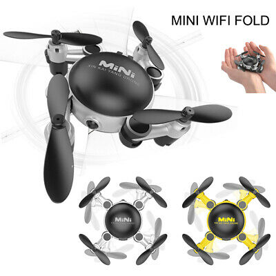 Mini Folding Drone with HD Camera 2.4Ghz WIFI Quadcopter Helicopter Pocket Drone