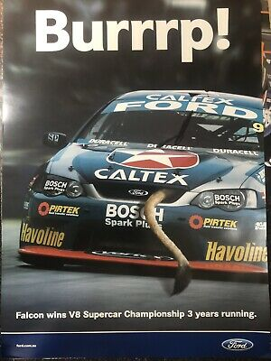 FORD OFFICIAL FALCON 2005 CHAMPIONSHIP WIN V8SUPERCARS POSTER EC Great 4 Mancave