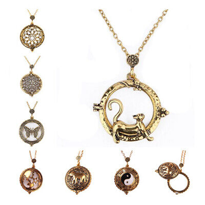 1Pcs 7 Styles Pendant Necklace Vintage Magnifying Glass 5 Times magnified