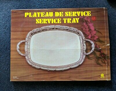 Vintage Silver Plated Service Tray Platter