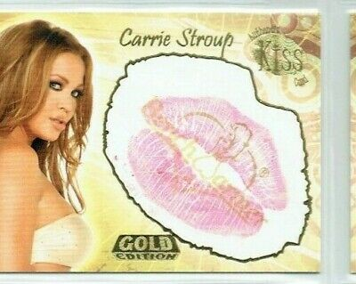 Benchwarmer 2007 Gold Carrie Stroup Kiss Card