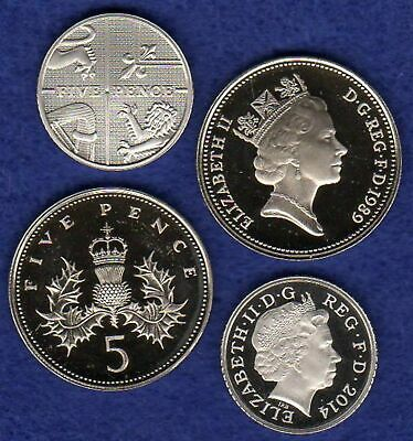 Great Britain, Proof 5p, 5 Pence Coin, Choice of Year, Choose Your Date