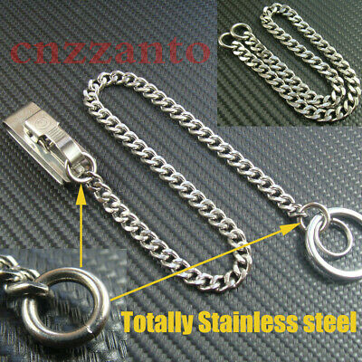 Stainless steel Quick release Key wallet chain Belt Clip ring snap holder H362