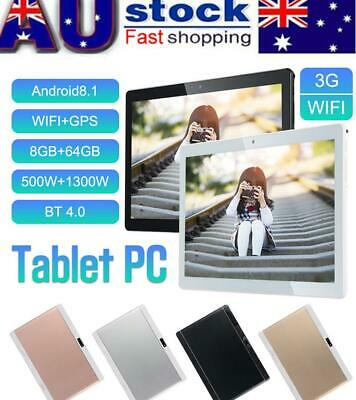 """HD 10.1"""" Tablet Ten Core 8G+256G Android 3G Wifi Bluetooth Call PC Laptop Camera"""