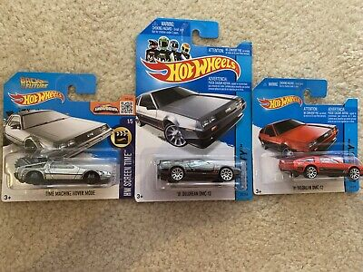Hot Wheels Back To The Future '81 Delorean DMC-12 Time Machine Set of 3 Movie