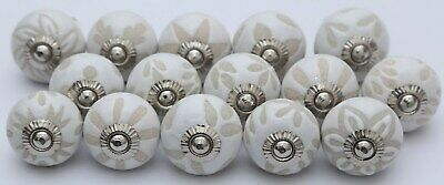 Vintage White Ceramic Door S Handpainted Kitchen Cabinet Drawer Pulls