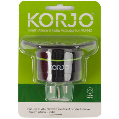 NEW Korjo South Africa & India Adaptor for Australia and NZ