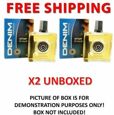 2 x Denim After Shave Original 100ml UNBOXED