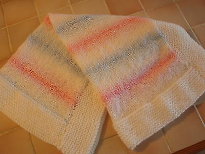 Baby & Toddler Clothing Sweaters Bn Handknitted Moses/pram Blanket White Dk1