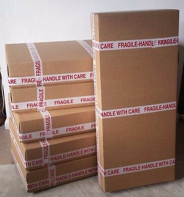 Strong cardboard box for sending a guitar - ELECTRIC - UK courier friendly