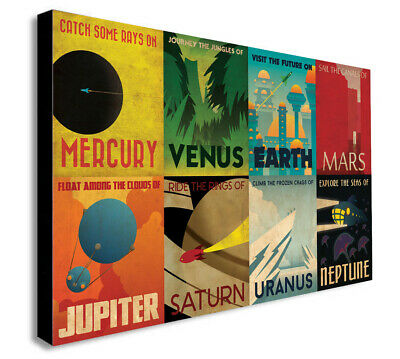 Wall Art Decor NASA SPACE TRAVEL POSTERS A4 A3 Size Retro Prints Vintage Home