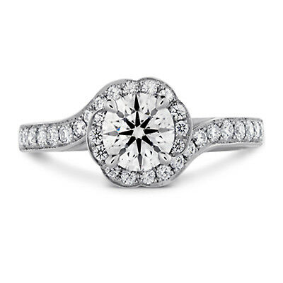 Round Cut Lab Created 1.20 Ct Diamond Solitaire Ring 14K White Gold