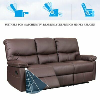 Leather Recliner Sofa Sets Settee Chair Sofa Suite Couches 3 Seater Armchair UK