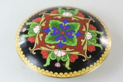 CHINESE Early 20th Century CLOISONNE LIDDED BOX UNUSUAL PATTERN