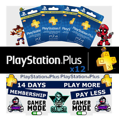 PSN PLUS 6 Month(12x14) DAY TRIAL - PS4 - PS3 - PS Vita - PLAYSTATION INSTANT