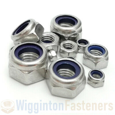 M3 M4 M5 M6 M8 M10 M12 Nyloc Nuts A2 STAINLESS STEEL Type T (DIN 985)