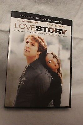 Love Story Ali MacGraw Ryan O'Neal 1970 Widescreen Rated PG 100 Min Paramount
