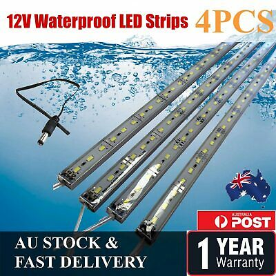 4X12V Led Strip Lights Waterproof Cool White 5630  Bars Camping Caravan Boat Car