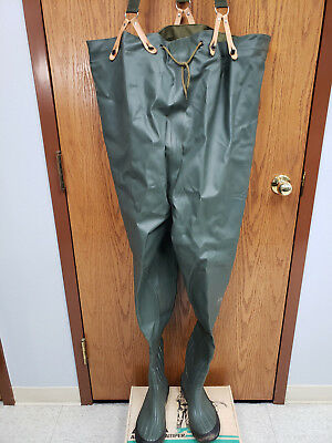 0cace8a5308 FLO-LITE HIP BOOTS Waders Mens Size 6 Rubber Insulated Steel Shank ...