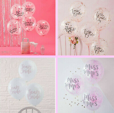 Hen Party Balloons Team Bride To Be Miss to Mrs Confetti Balloons Decorations