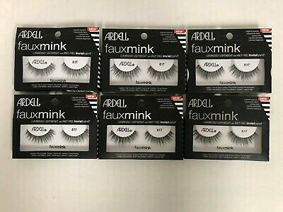 157084eede6 6 PAIRS ARDELL Faux Mink Eyelashes - Demi Wispies Black Strip Lashes ...