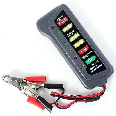 12V tester per batterie auto camion con 6 led digitale battery tester